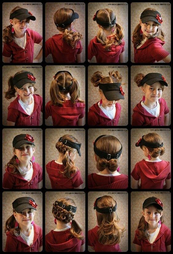 Girlydohairstyles Com Hat Hairstyles Visor Hairstyles Kids Hairstyles