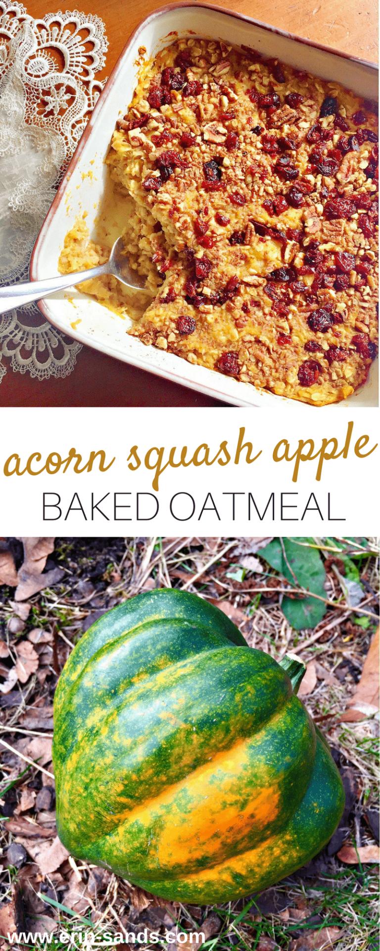 Acorn Squash Apple Baked Oatmeal Recipe Baked Squash Baked
