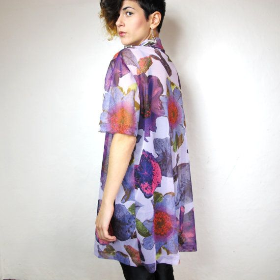 Hyper Real Floral Sheer Blouse . honeymoonmuse