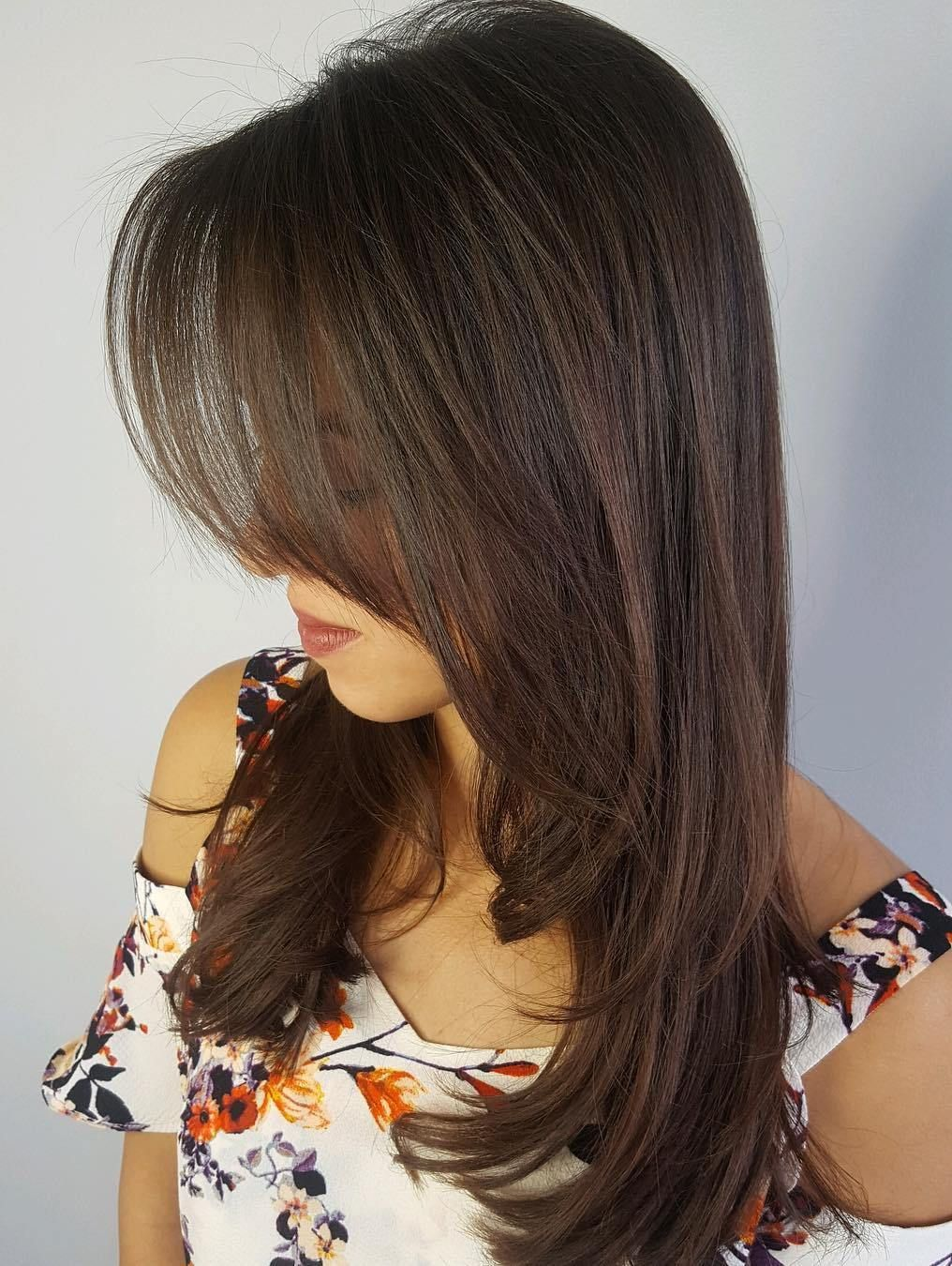 50 cute and effortless long layered haircuts with bangs
