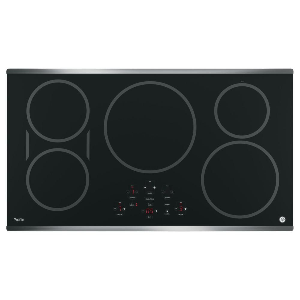 Ge Profile 36 In Electric Induction Cooktop In Stainless Steel