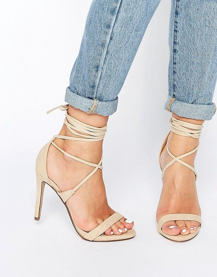 b248eb3f4b Call It Spring Eowossa Heeled Naked Lace Up Sandal --> Click to buy