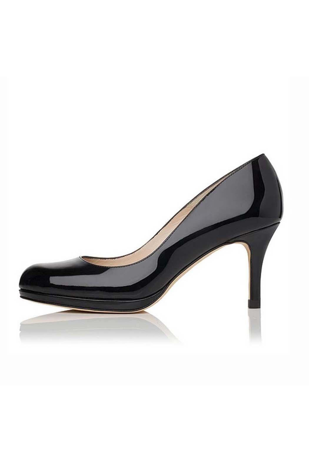 dc2749e276 LK BENNETT Sybila Black Patent Heel | What to Wear: Office Party ...