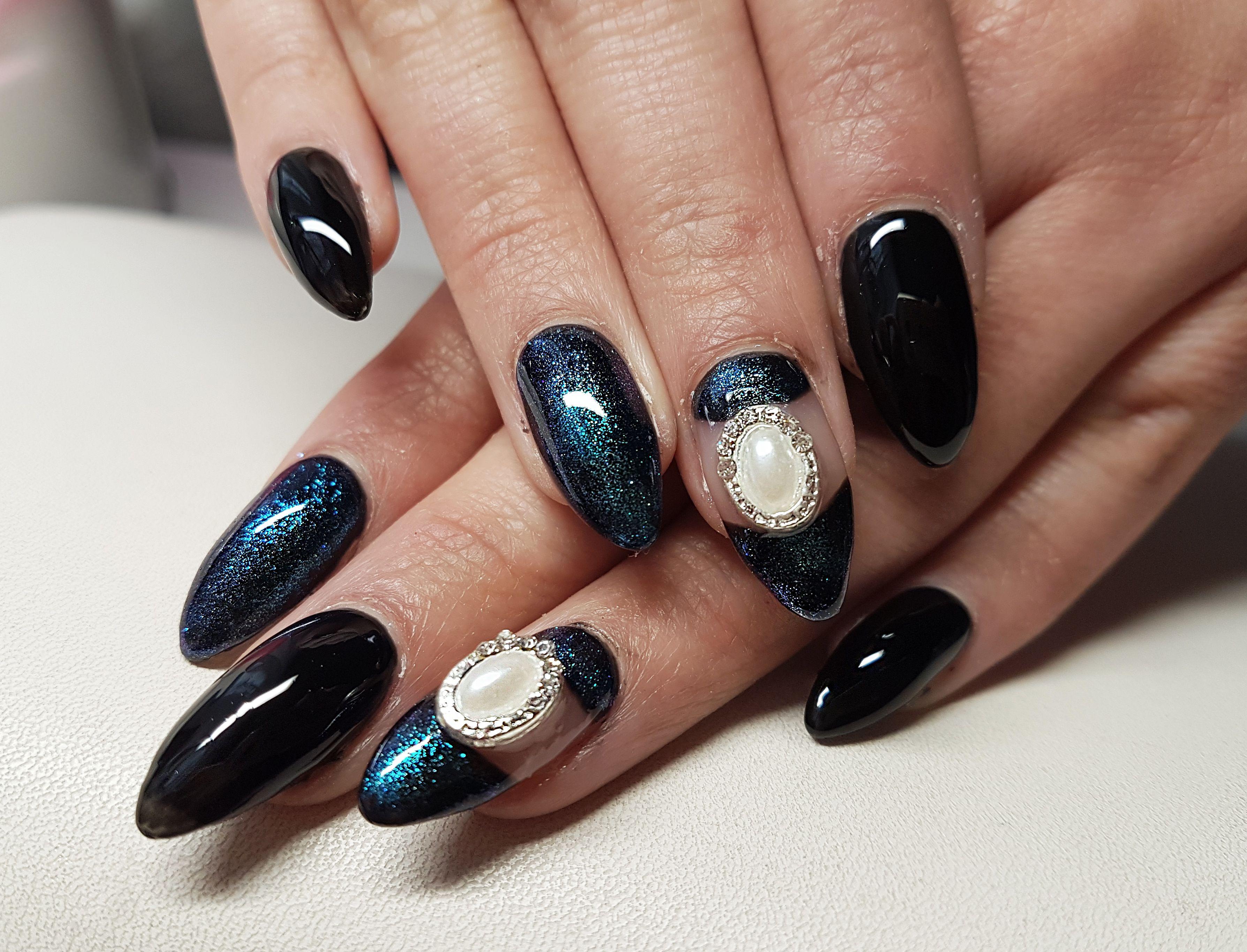 dark blue nails | My nails | Pinterest | Dark blue nails and Blue nails