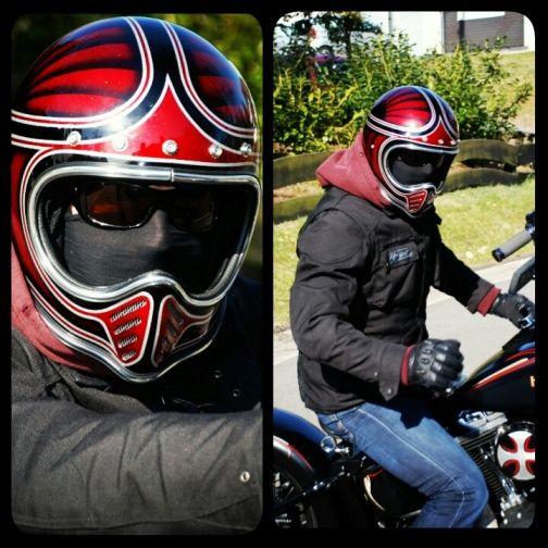 Custom Painted Novelty Motorcycle Helmets