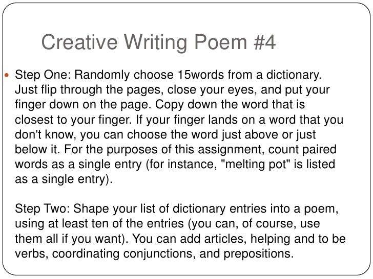 Creative writing dictionary narrative essay college