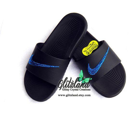 Swarovski Nike Kawa Slides   Flip Flops Blinged with SWAROVSKI® Crystals faccc3564359