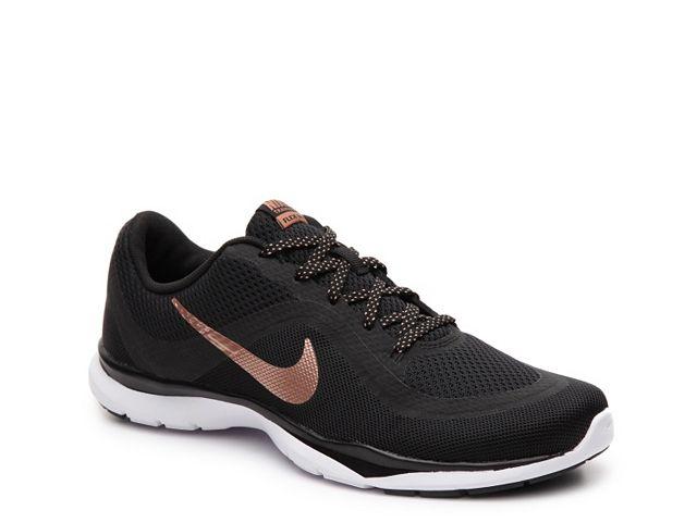 Nike Flex Trainer 6 Training Shoe Womens Rose Gold Nike Shoes Gold Nike Shoes Womens Nike Flex