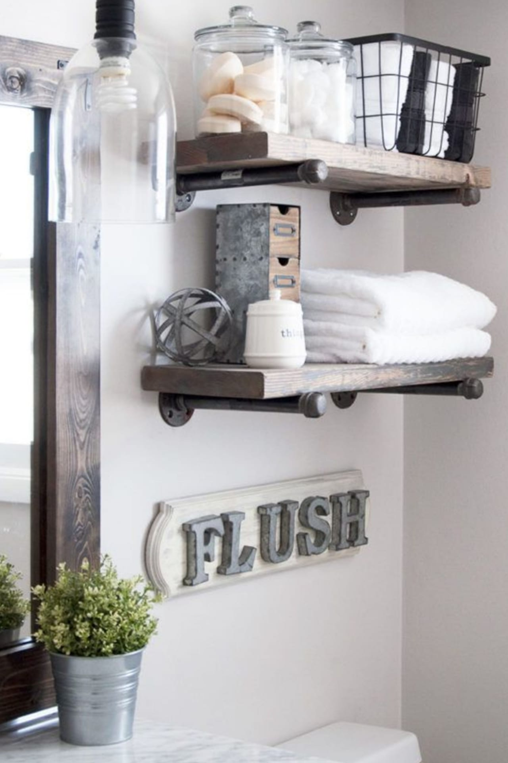 Bathroom Shelves Beautiful And Easy Diy Bathroom Space Saver