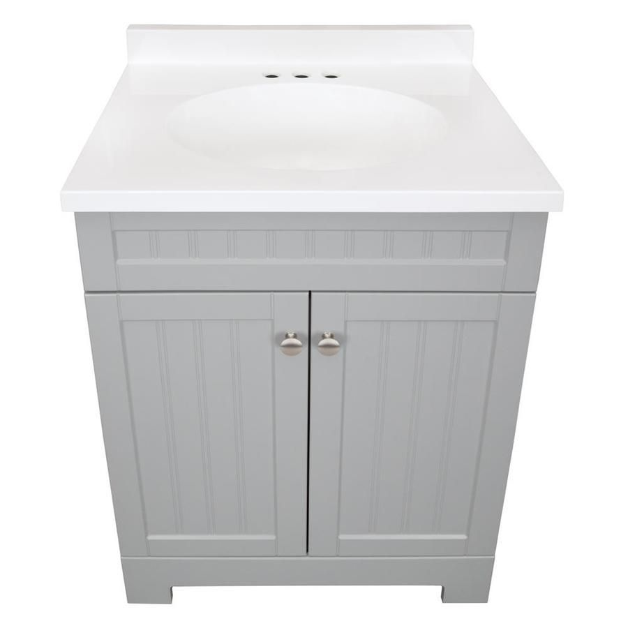 Style Selections Ellenbee 24 5 In Gray Single Sink Bathroom Vanity