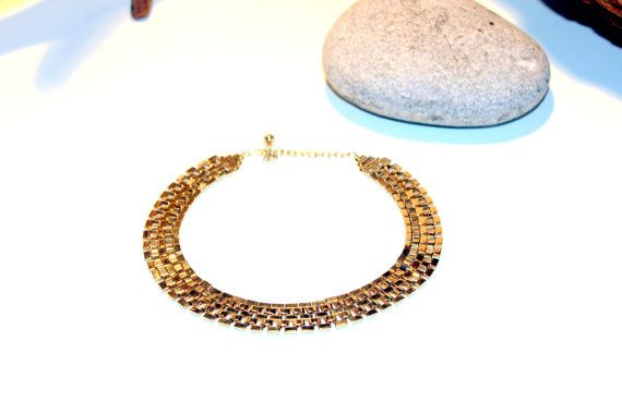 Vintage Art Deco Collar Gold Tone by AntiqueAlchemists on Etsy, $18.00