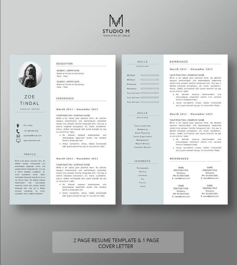 Resume And Cover Letter Template Professional Microsoft Word Resume Cv Template Resume Design Plantilla De Curriculum Vitae Plantilla De Curriculum Disenos De Curriculum Vitae