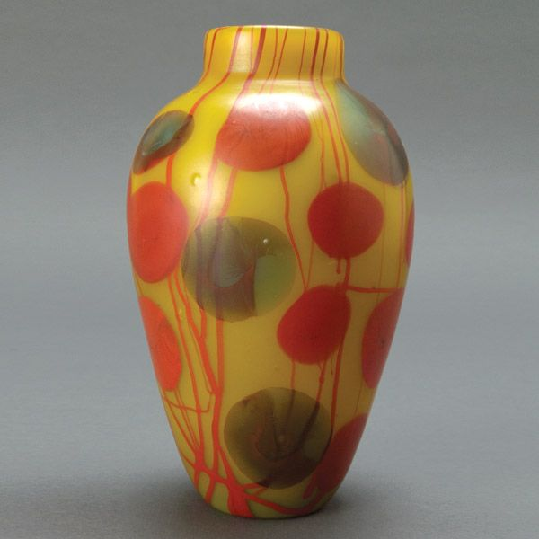 Stunning Tiffany Studios Yellow Vase, from Michaan's Auctions