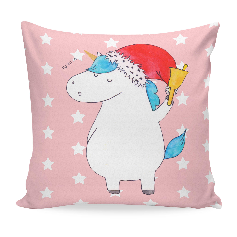 40x40 Kissen Einhorn Weihnachtsmann aus Soft-Feel