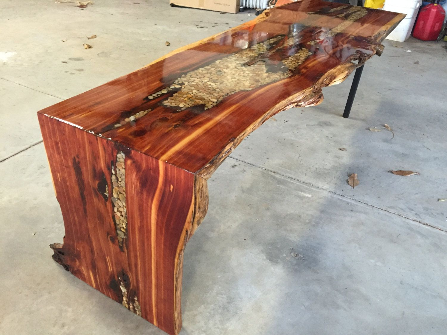 Live Edge Waterfall Coffee Table By Ninjawarriorwhittler