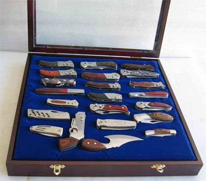 Amazon pocket knife display case cabinet shadow box glass door amazon pocket knife display case cabinet shadow box glass door walnut planetlyrics Images