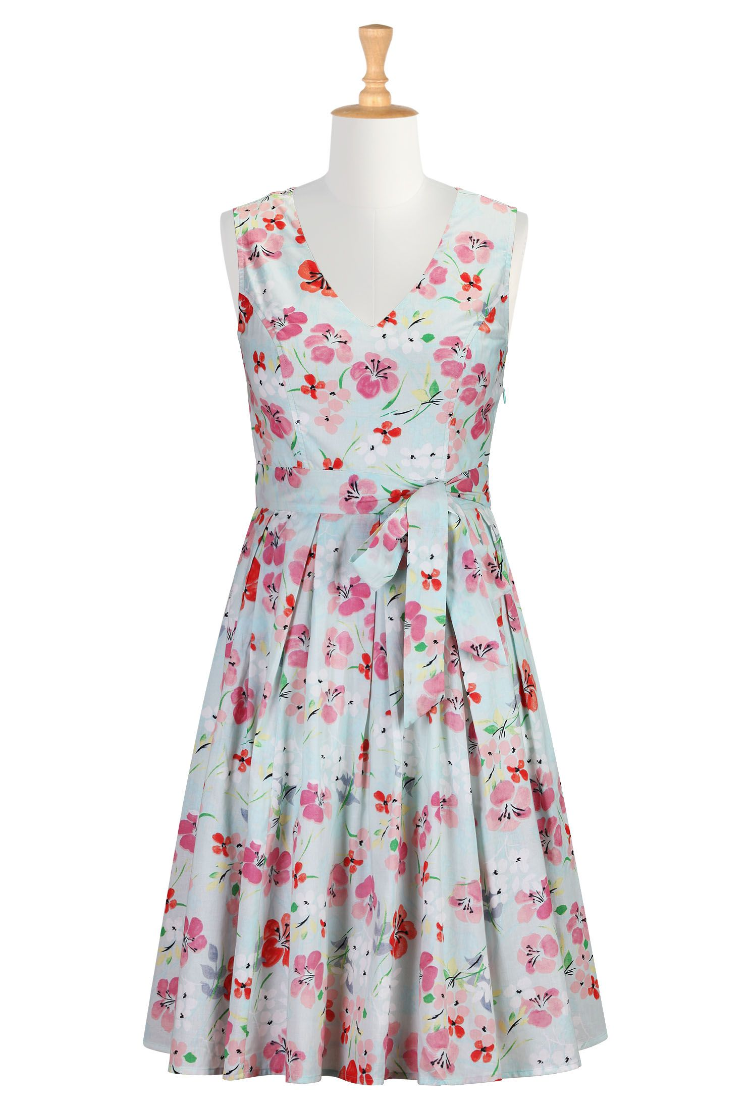 Floral wash print sash tied dress | Print..., Short dresses and Shops