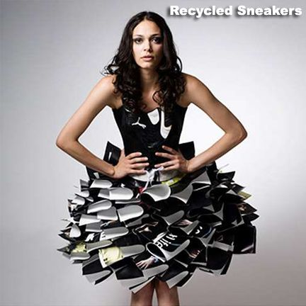 #eco #couture with #recycled #sneakers