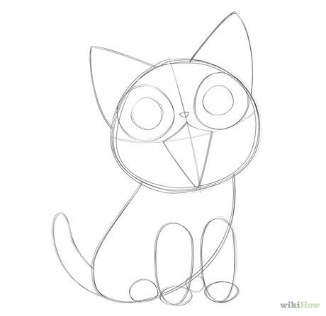 Draw Anime Cats Kitten Drawing Anime Cat Simple Cat Drawing