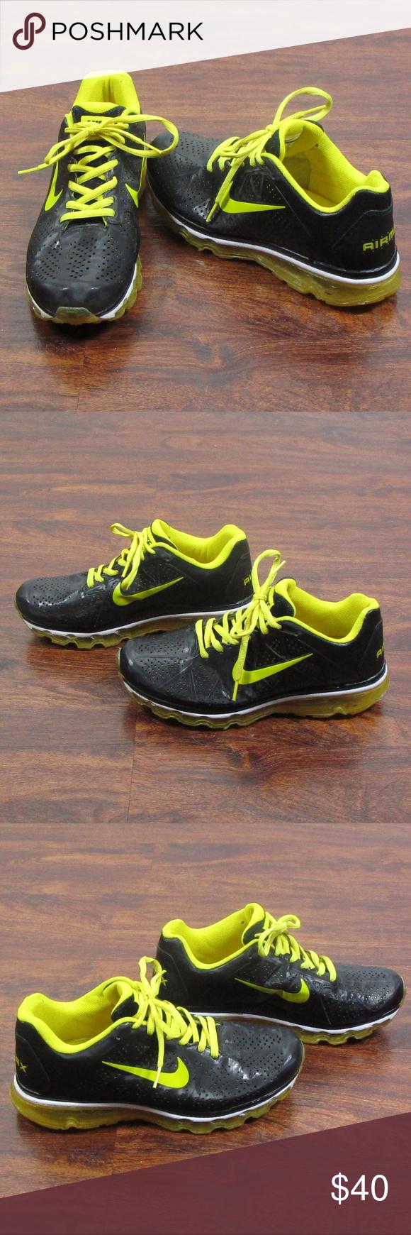 Nike Air Max Leather Black Charm Yellow Swoosh