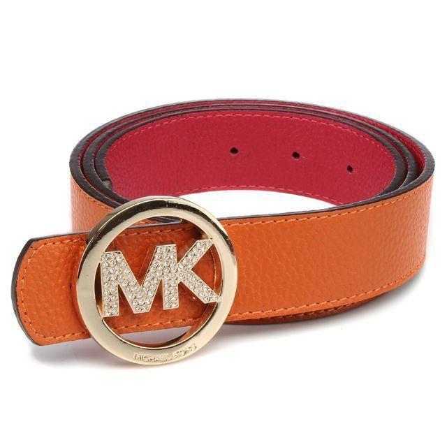 Price:$52.36 Michael Kors Logo-Medallion Leather Large Orange Belts http://