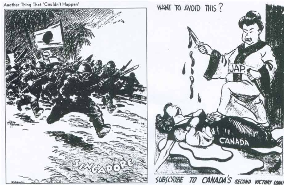 Japanese Canadian Internment Political Cartoon Canadian Soldiers