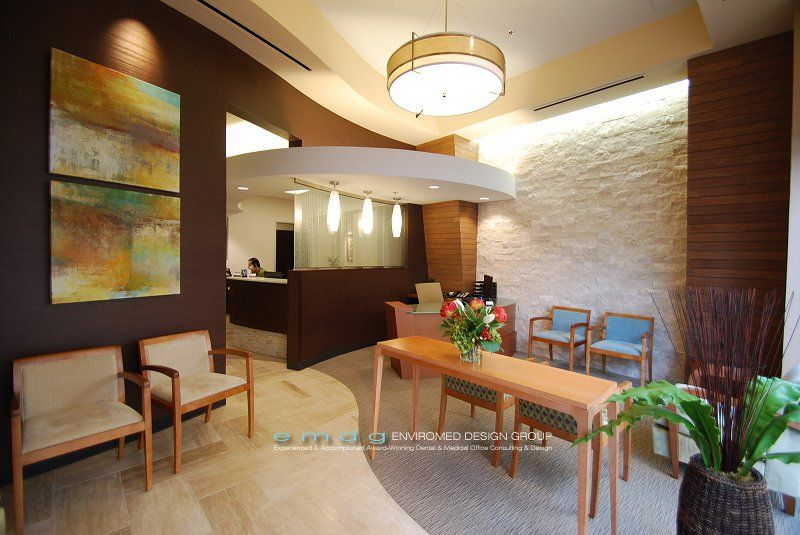 Dental office waiting room photos by enviromed design for Waiting room interior design ideas