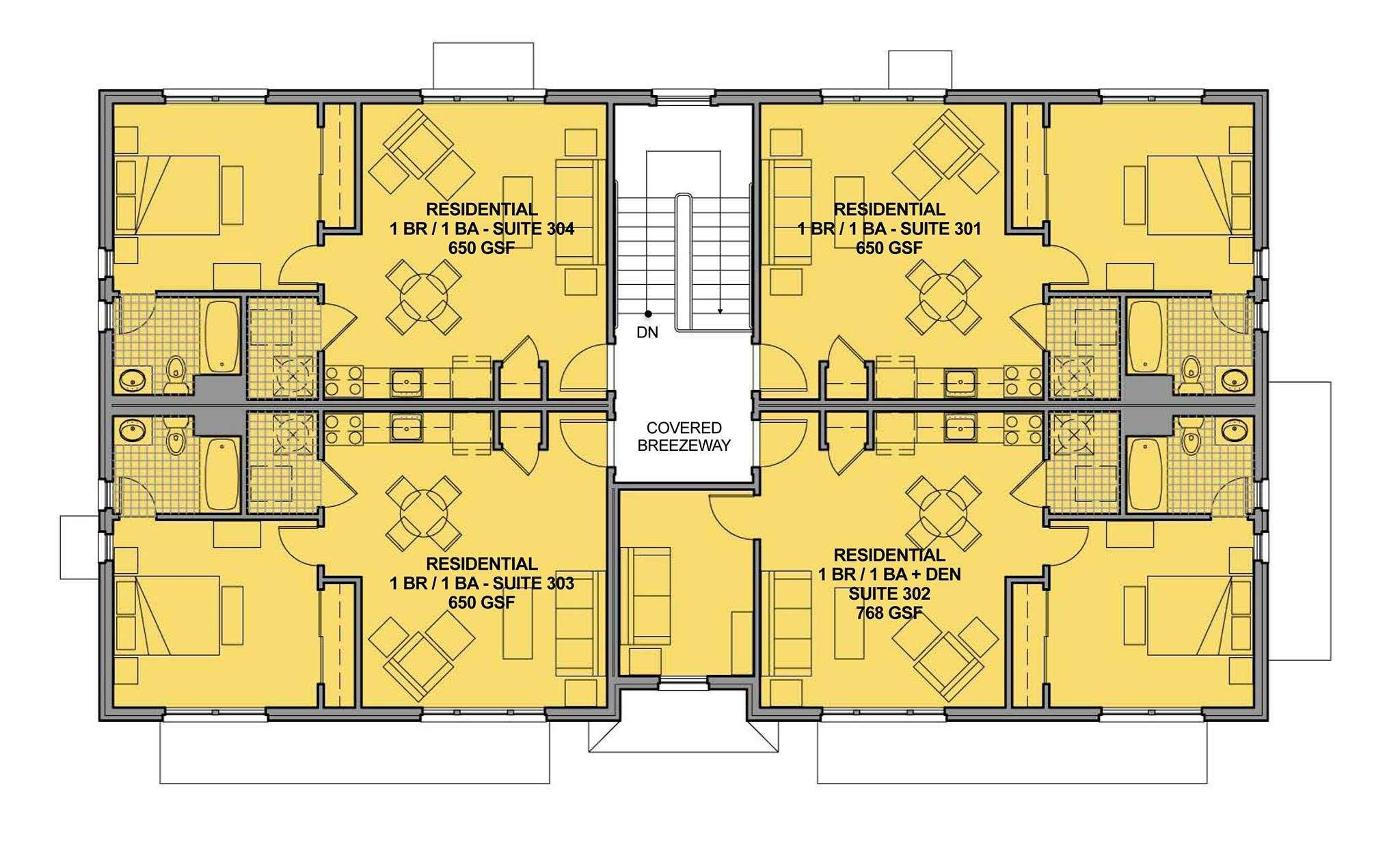 Small House Plans With Elevators Building Plan Drawing Building Plan Apartment Building