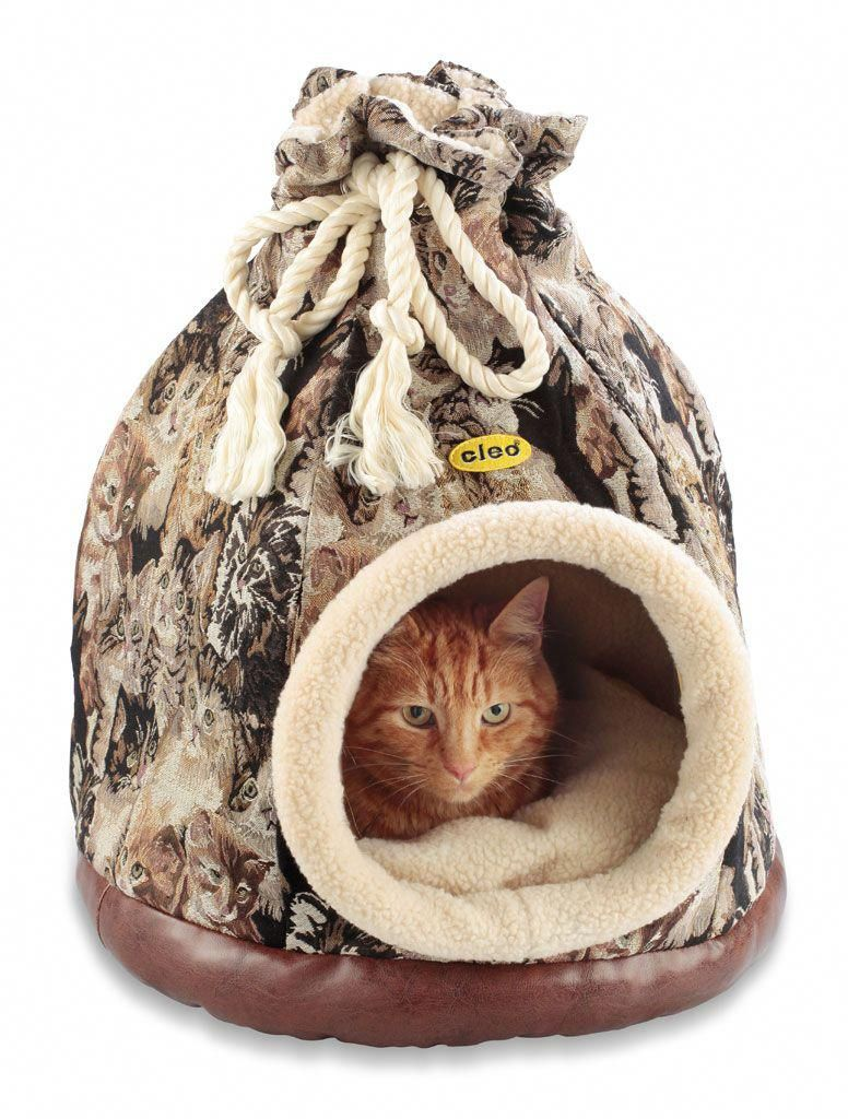 Cat Tapestry Duffle Bed for cats and small dogs Кошачьи