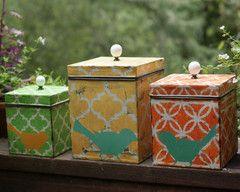 Shabby Chic Bird Tin Boxes #decorations #shabbychic