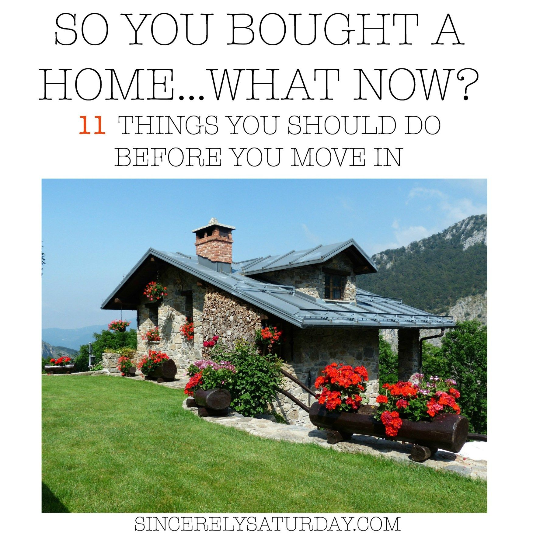 So You Bought A Home What Now