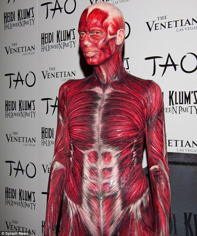 Halloween Heidi klum body paint
