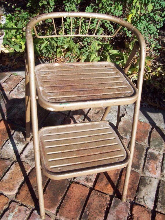 Vintage Metal Step Stool Vintage Step Stool Chair