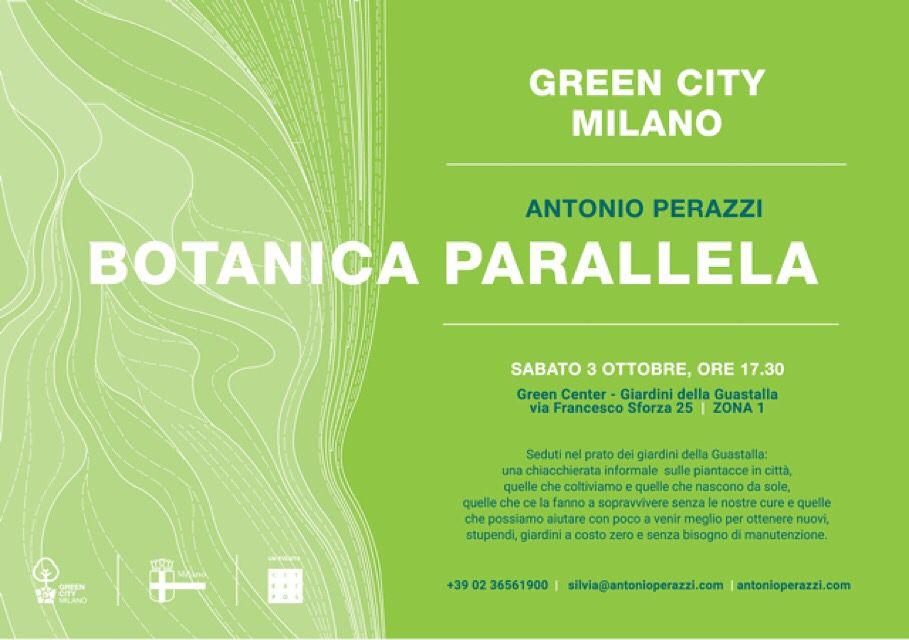 a speech on weeds and gardens made by nature in Milano, Giardino Guastalla - Green City