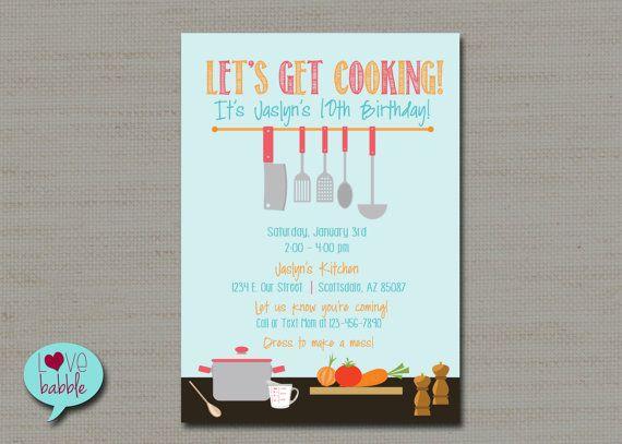 Cooking Baking Kitchen Chef Party Kitchen Bridal Shower Etsy Digital Invitations Etsy Bridal Shower Event Card