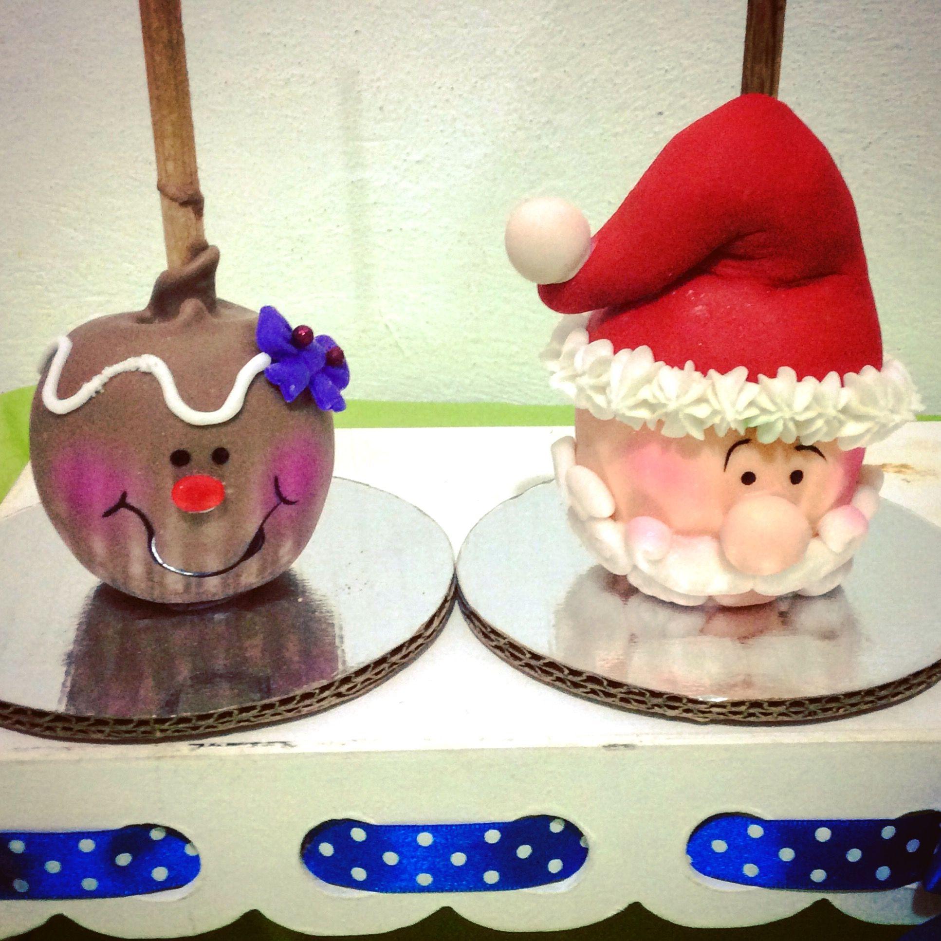 Manzanas decoradas Navidad