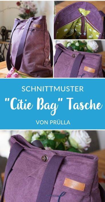 Rucksack Schultertasche - Citie Bag - Schnittmuster eBook