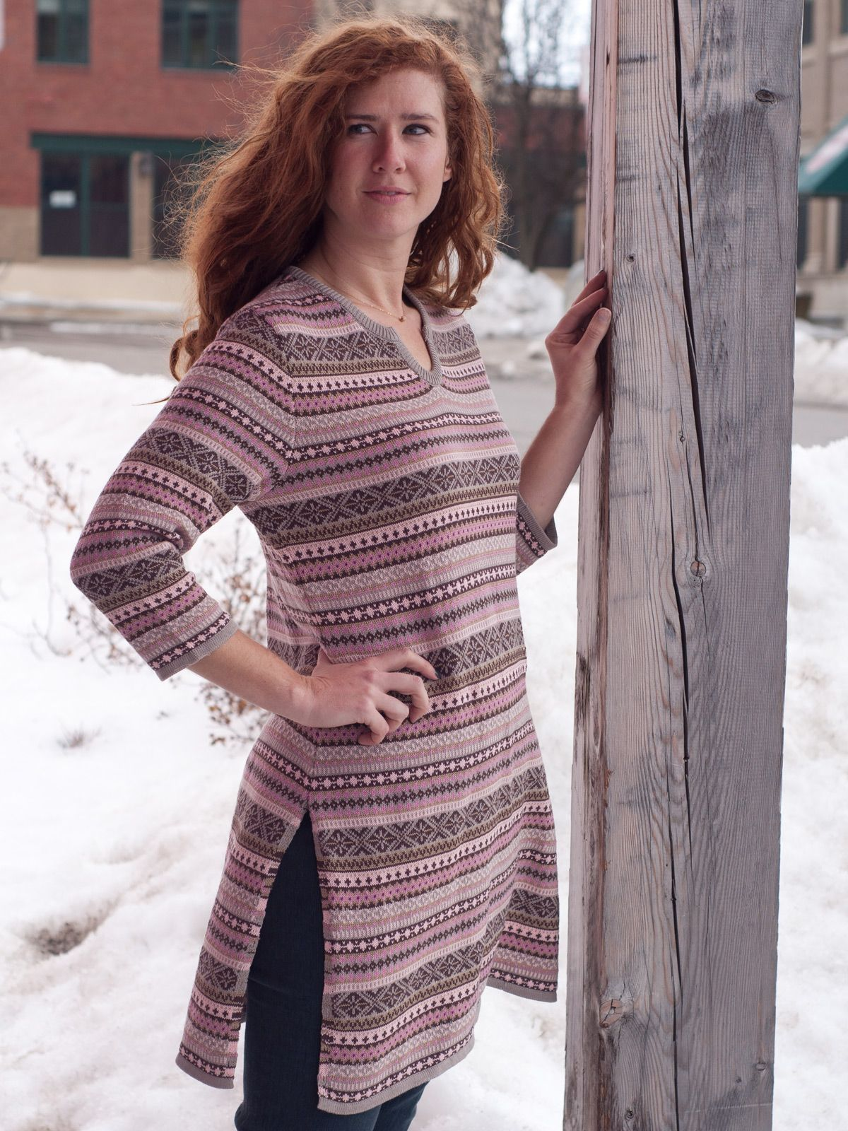 FairIsle Ladies Tunic Sweater | Ladies, Tops :Beautiful Designs by ...