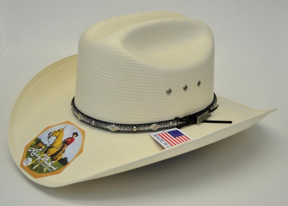 7d218914d1858 From the Larry Mahan Hat Collection by Milano Hat Co.! - Genuine 10X  Natural Straw - Black Calf Hair concho hat band - Silver eyelits -  Self-conforming ...