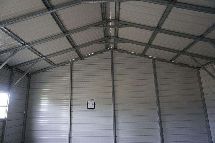 2 Car Metal Garage in Midland, Michigan Midwest Steel