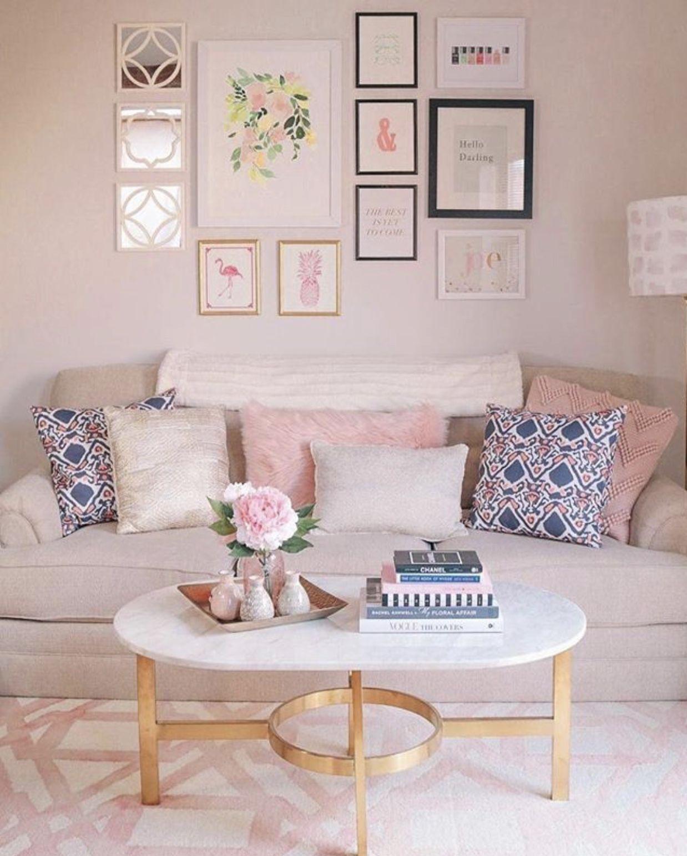 Pin by Jennifer George on Decor | Pink living room decor ...