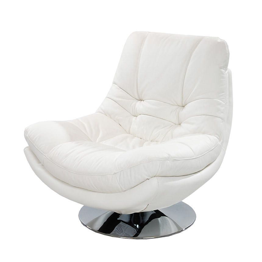 White Leather Swivel Chair Visit more at http://adazed.com/white ...