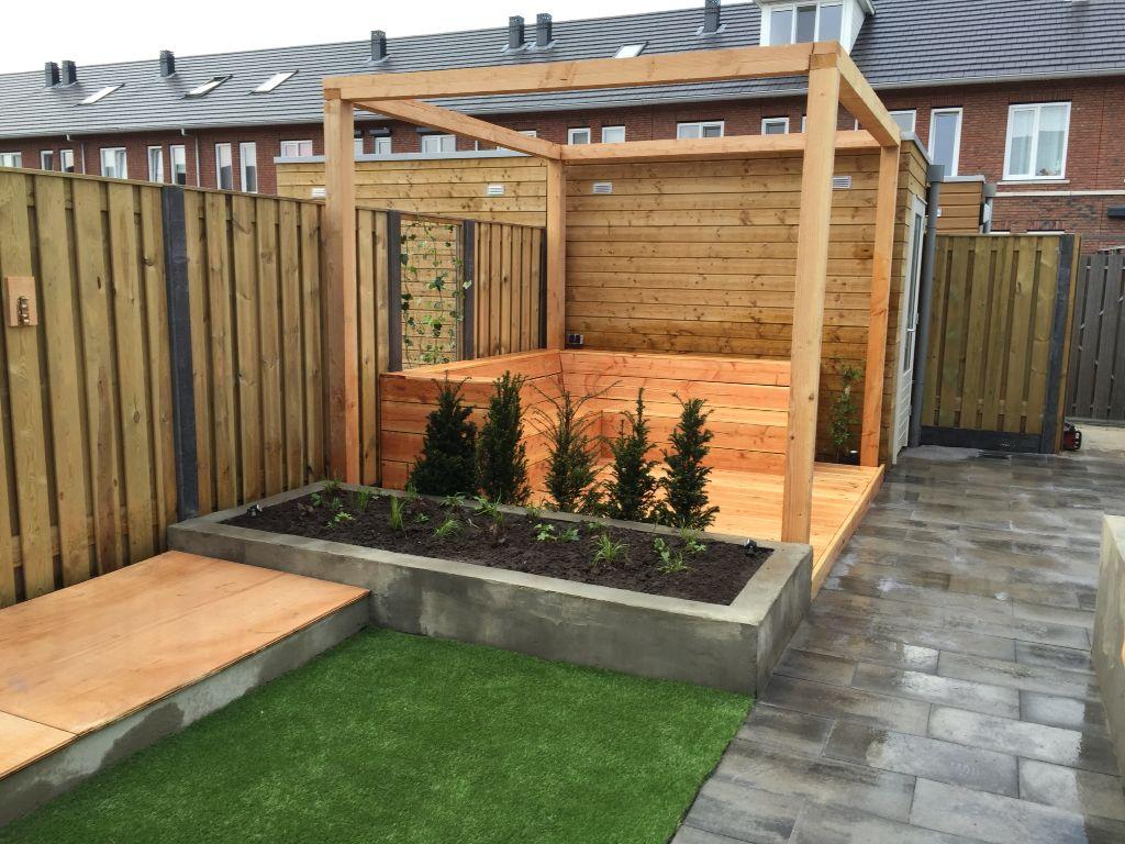 Pergola vlonder van douglashout ontwerp sven vliegen tuinen tuin pinterest tuinen - Eigentijds pergola hout ...