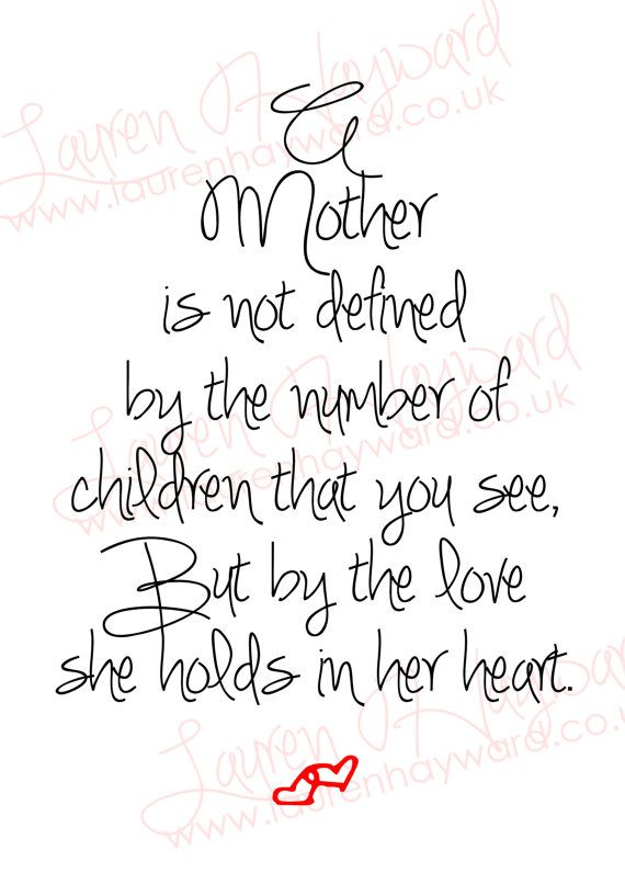Mother's Day A4 Printable for those who have lost a child