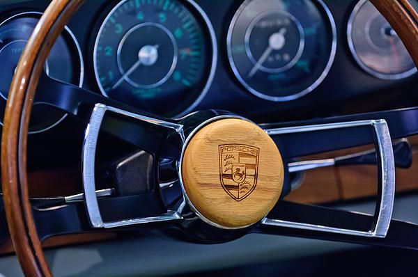 Images of Steering Wheels by Jill Reger - Steering Wheel Images -   1967 Porsche 911 Coupe Steering Wheel Emblem