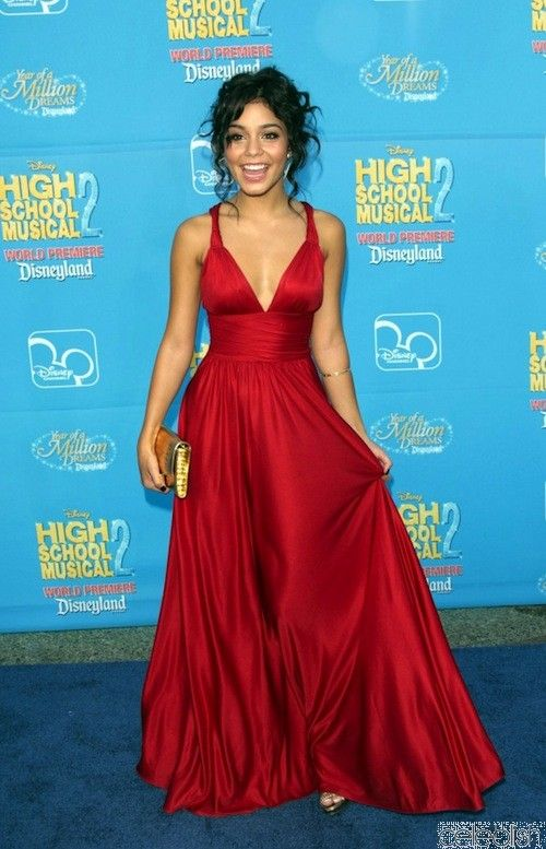 Vanessa Hudgens Red Dress at High School Musical Premiere ...