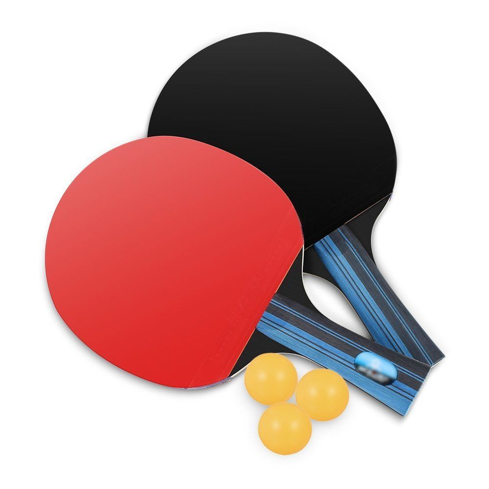 Professional Table Tennis Racket Set With 2 Rackets 3 Practice Ping Pong Balls Lhedon Table Tennis Set Table Tennis Racket Table Tennis