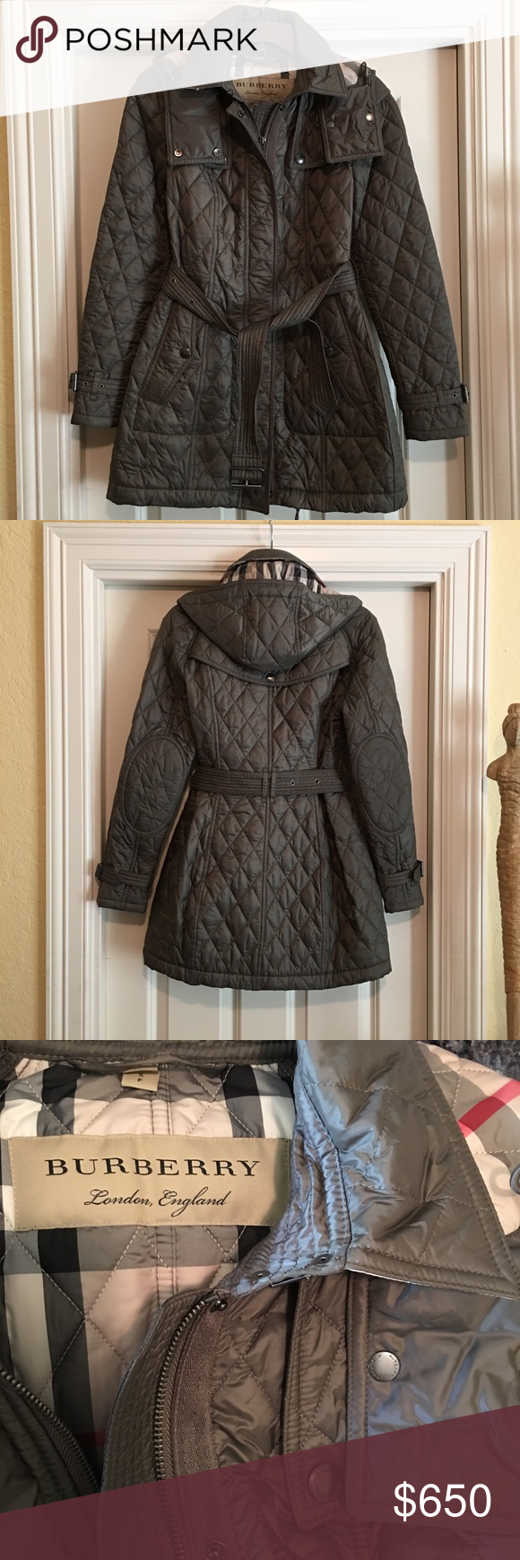 da2ae8f6f533 Burberry  Baughton  Quilted Coat Perfect condition and still full priced in  stores. Only