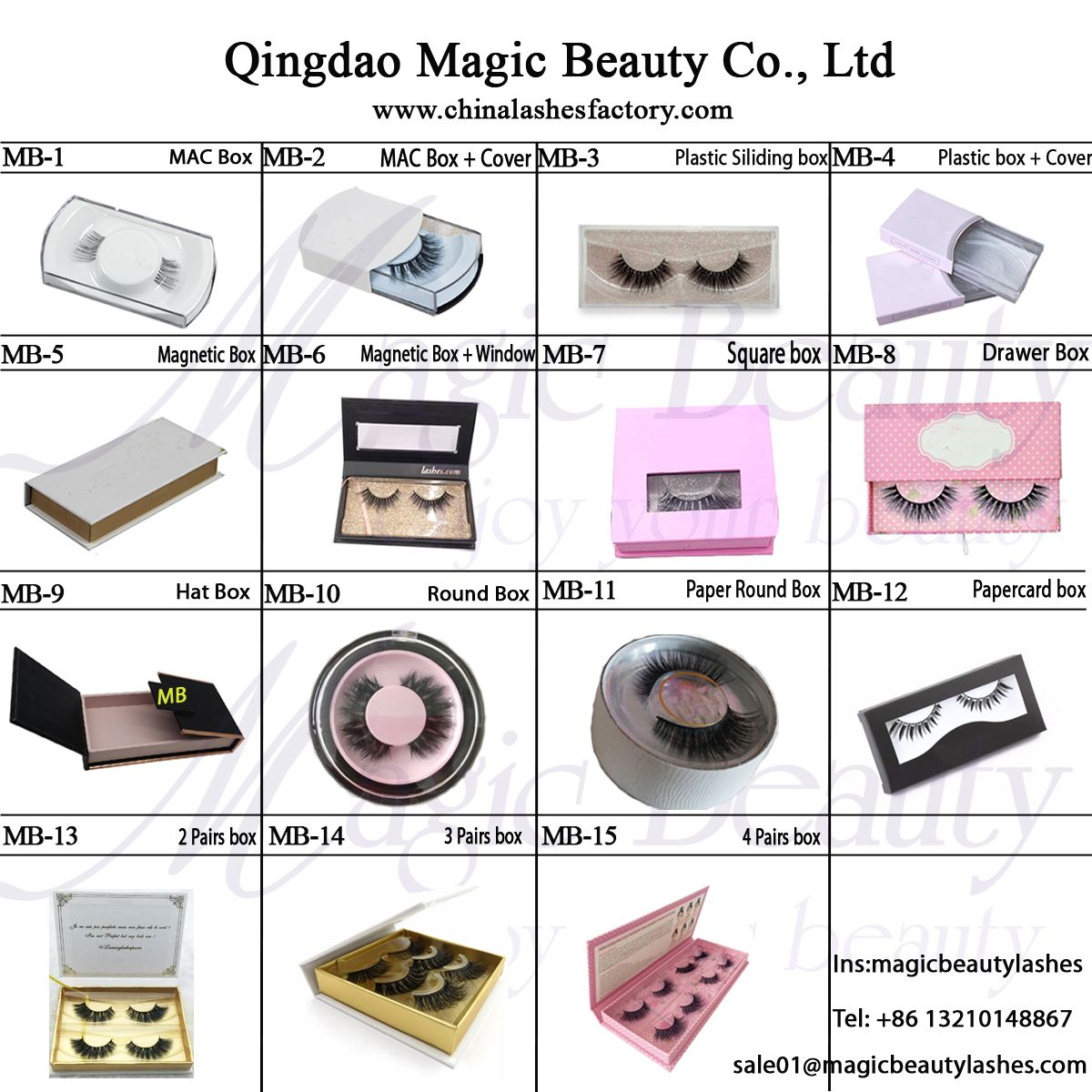 7a8ec81d258 Private Lable Lashes package with brand name-Qingdao Magic Beauty Co., Ltd  WhatsApp:+86 13210148867 Email:sale01@magicbeautylashes.com ...