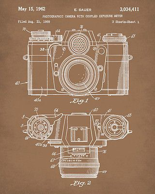 Camera patent print wall art camera blueprint photography poster camera patent print wall art camera blueprint photography poster home decor malvernweather Gallery